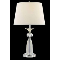 Elegant Lighting Grace 1 Light Table Lamp in Chrome TL125
