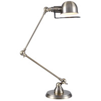 Urban Classic by Elegant Lighting Industrial 1 Light Table Lamp in Antique Brass TL1251