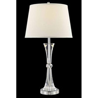 Elegant Lighting Grace 1 Light Table Lamp in Chrome TL127