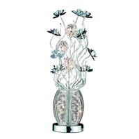 Elegant Lighting South Beach 5 Light Table Lamp in Chrome TL201
