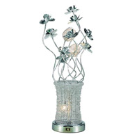 Elegant Lighting South Beach 5 Light Table Lamp in Chrome TL202