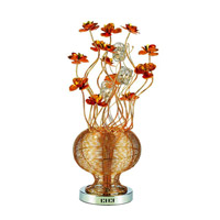 Elegant Lighting South Beach 5 Light Table Lamp in Golden-Orange TL205