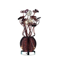 Elegant Lighting South Beach 5 Light Table Lamp in Coffee TL208