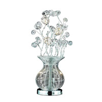 Elegant Lighting South Beach 5 Light Table Lamp in Chrome TL209