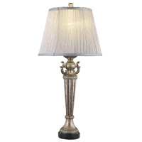 Elegant Lighting Belmont 1 Light Table Lamp in Gold and Silver TL3010