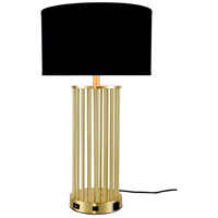 Elegant Lighting TL3010 Brio 29 inch 40 watt Brushed Brass Table Lamp Portable Light, with USB Port and Power Outlet