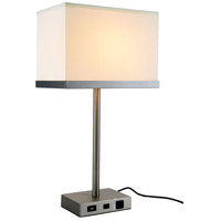 Brio 26 inch 40 watt Vintage Nickel Table Lamp Portable Light