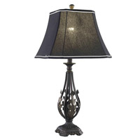 Elegant Lighting Belmont 1 Light Table Lamp in Antique Black TL3012
