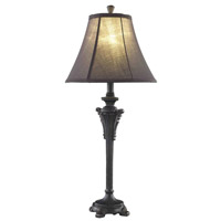 Elegant Lighting Belmont 1 Light Table Lamp in Antique Black TL3013