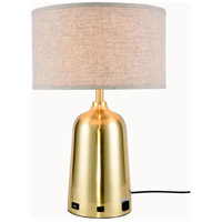 Brio 24 inch 40 watt Brushed Brass Table Lamp Portable Light