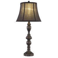 Elegant Lighting Belmont 1 Light Table Lamp in Black Brown TL3015