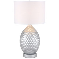 Elegant Lighting TL3021S Miel 29 inch 40 watt Silver Table Lamp Portable Light