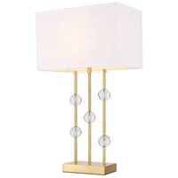 Elegant Lighting TL3025BR Rene 31 inch 40 watt Brushed Brass Table Lamp Portable Light