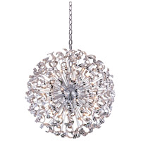 Elegant Lighting V2068G54C/EC Tiffany 45 Light 54 inch Chrome Foyer Pendant Ceiling Light