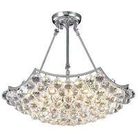 Elegant Lighting V9802D22C/SS Corona 10 Light 22 inch Chrome Dining Chandelier Ceiling Light in Swarovski Strass