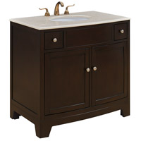 Elegant Lighting VF-1036 Clarion Dark Brown Vanity Set