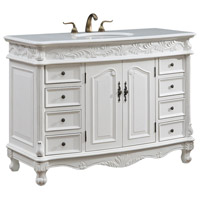 Elegant Lighting VF-1039 Bordeaux 48 X 36 inch Antique White Vanity Set