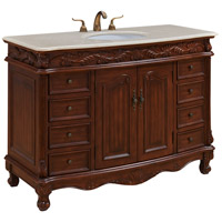 Elegant Lighting VF-1040 Bordeaux 48 X 36 inch Teak Vanity Set