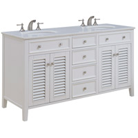 Elegant Lighting VF-1042 Cape Cod White Vanity Set