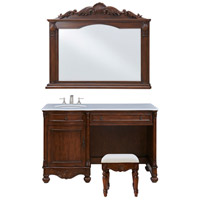 Elegant Lighting VF-1046S Windsor Teak Vanity Set, 3 Piece Set