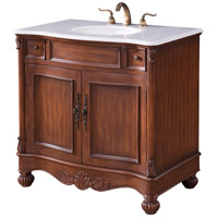 Elegant Lighting VF-1047 Windsor Teak Vanity Set
