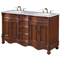 Elegant Lighting VF-1048 Windsor Teak Vanity Set