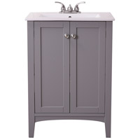 Elegant Lighting VF-2006 Mod Grey and Chrome Vanity Sink Set