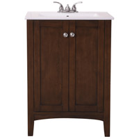 Elegant Lighting VF-2007 Mod Antique Coffee and Chrome Vanity Sink Set