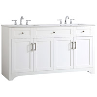 Elegant Lighting VF17060DWH Moore White and Brushed Nickel with Calacatta Quartz Vanity Sink Set