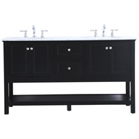 Metropolis Black Vanity Sink Set