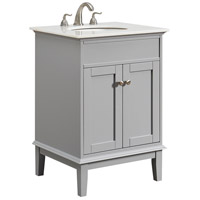 Sutton Grey and Brushed Steel Vanity Set