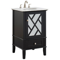 Elegant Lighting VF30221BK Luxe 21 X 35 inch Black and Brushed Steel Vanity Set