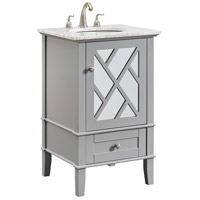 Elegant Lighting VF30221GR Luxe 21 X 35 inch Grey and Brushed Steel Vanity Set