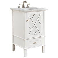Luxe White and Brushed Steel Vanity Set