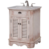 Milford White Wash and Antique Bronze Vanity Set
