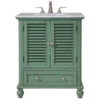 Rhodes Vintage Mint and Brushed Steel Vanity Set