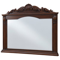 Windsor 50 X 40 inch Clear and Teak Wall Mirror, Rectangle