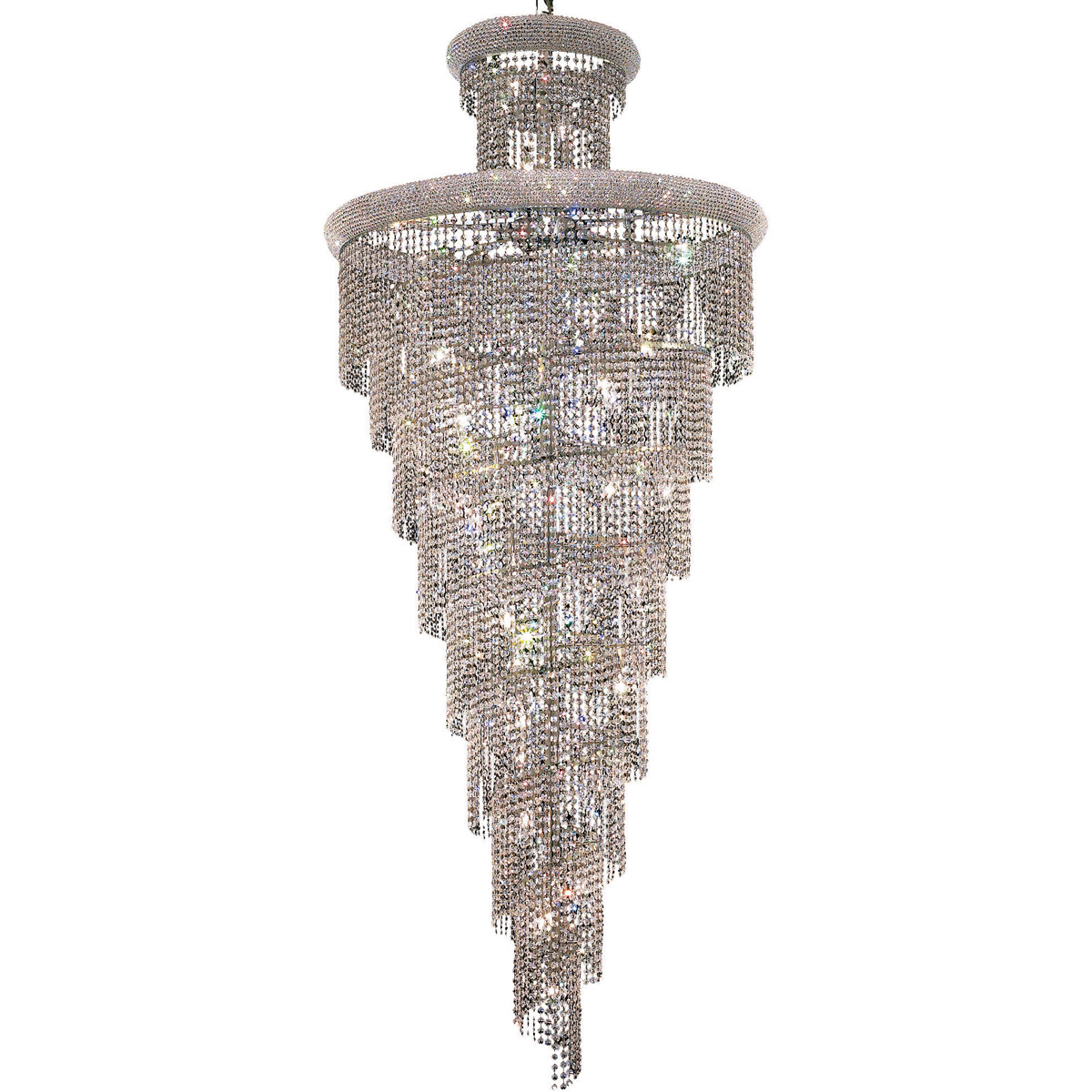 Details About Asfour Crystal Chandelier Spiral Modern Quality Lighting Fixtures 32 Light 86