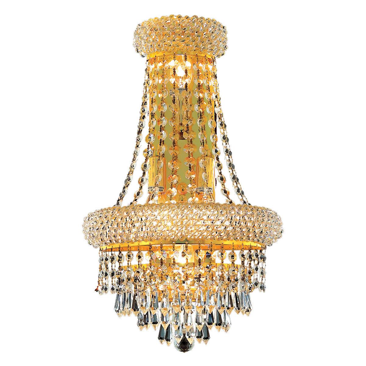 Image of: Lampara De Pared De Cristal Oro Comedor Sala Dormitorio Bano Cocina 4 Luz 18 Ebay