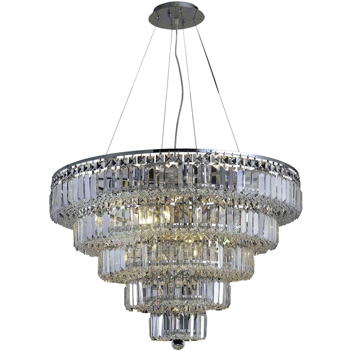 """Crystal Chandelier Quality Types: 17 LIGHT 30"""" ASFOUR CRYSTAL MODERN CHANDELIER FOYER DINING"""