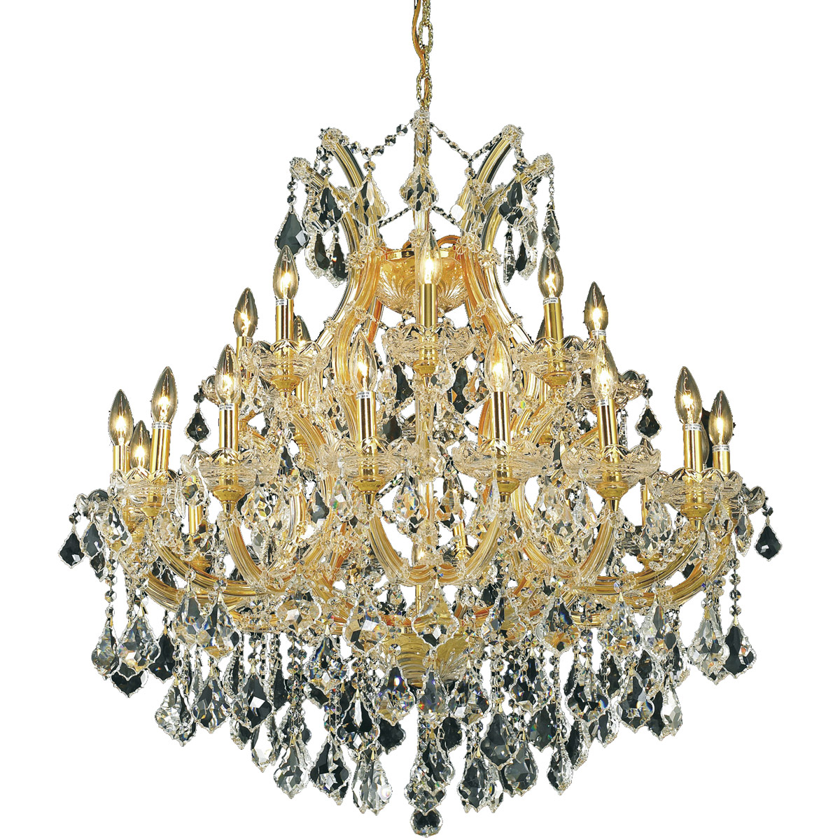 24 Light Beautiful High Quality Chrome Crystal Chandelier This Has Top Egyptian Asfour Crystals That Sparkle Like Jewels