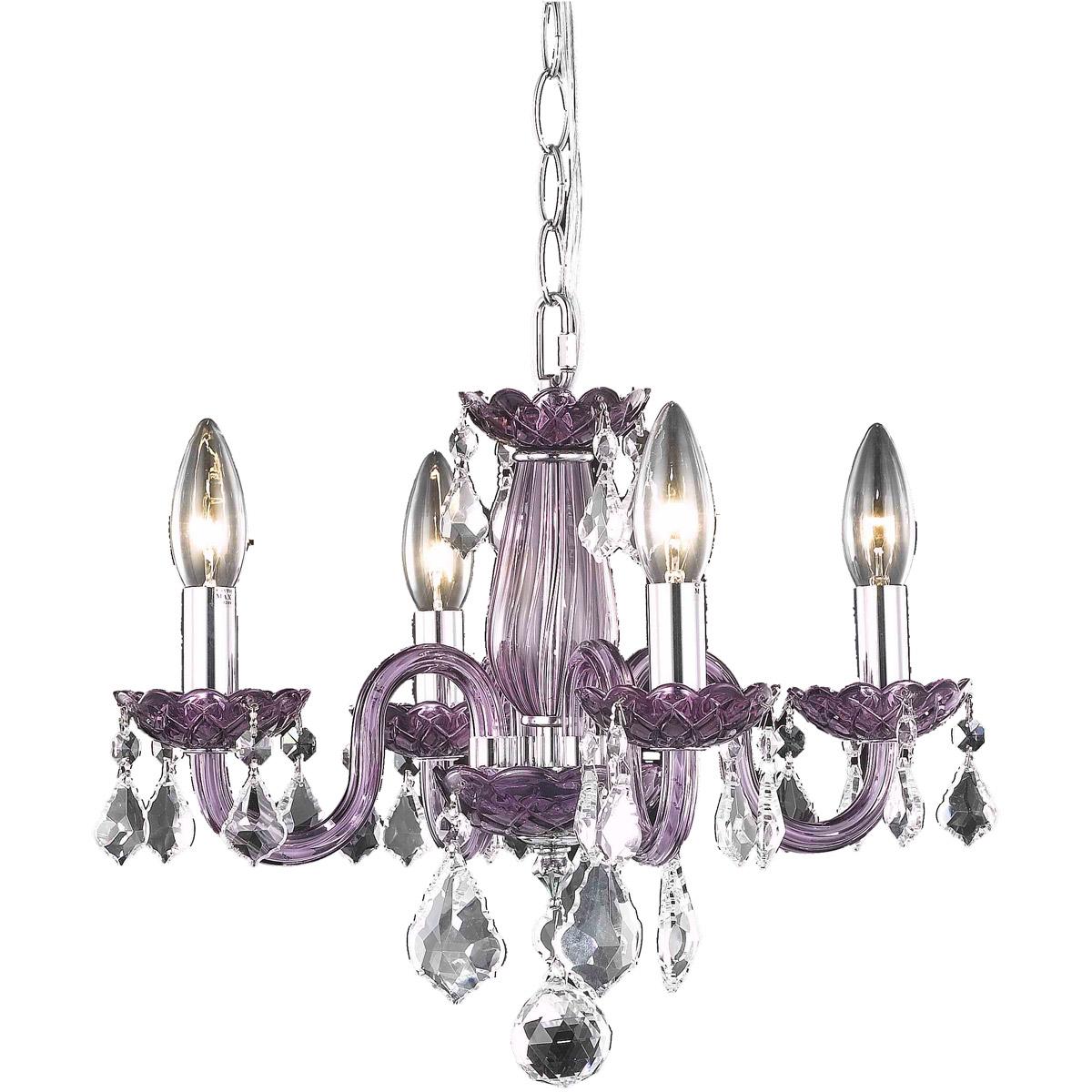 4 light venetian purple crystal chandelier bedroom bathroom dining 4 light beautiful purple crystal chandelier in the venetian style h 12 x w 15 arubaitofo Image collections