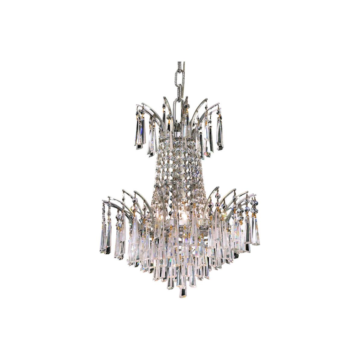 Details About 4 LIGHT 16 CRYSTAL CHANDELIER DINING LIVING ROOM BEDROOM LIGHTING LAMP FIXTURE
