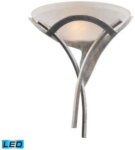ELK Lighting Aurora 1 Light Wall Sconce in Tarnished Silver 001-TS-LED photo