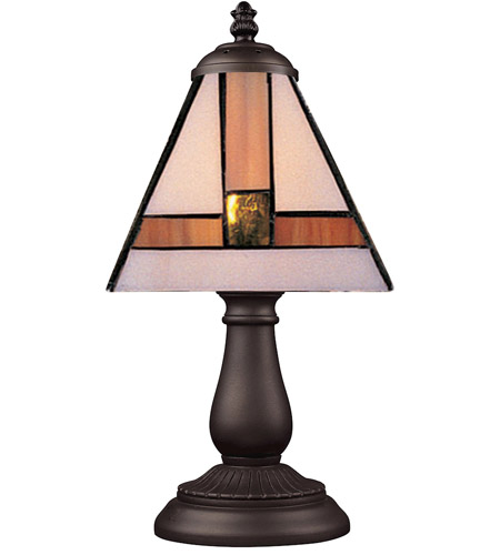 ELK 080-TB-01 Mix-N-Match 13 inch 60 watt Tiffany Bronze Table Lamp Portable Light in Tiffany 01 Glass photo