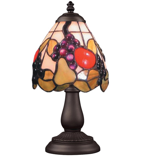 ELK 080-TB-19 Mix-N-Match 13 inch 60 watt Tiffany Bronze Table Lamp Portable Light in Tiffany 19 Glass photo