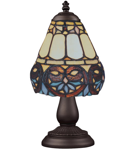 ELK Lighting Mix-N-Match 1 Light Table Lamp in Tiffany Bronze 080-TB-21 photo