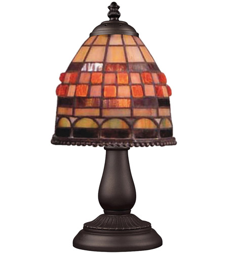 ELK 080-TB-10 Mix-N-Match 13 inch 60 watt Tiffany Bronze Table Lamp Portable Light in Tiffany 10 Glass photo