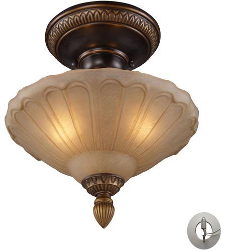 Elk Lighting Garriston: ELK 08092-AGB-LA Restoration 3 Light 12 Inch Golden Bronze