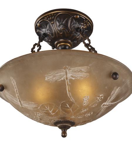 Elk Lighting Garriston: ELK 08096-AGB Restoration 3 Light 16 Inch Golden Bronze